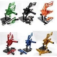 For 08 15 Honda CBR1000RR CBR 1000RR CNC Aluminum Adjustable Rear Set Foot Pegs Pedal Footrest Rearset Motorcycle Part