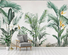 beibehang Custom 3d Wallpaper Modern high quality Southeast Asia hand painted plants small fresh background wall wallpaper