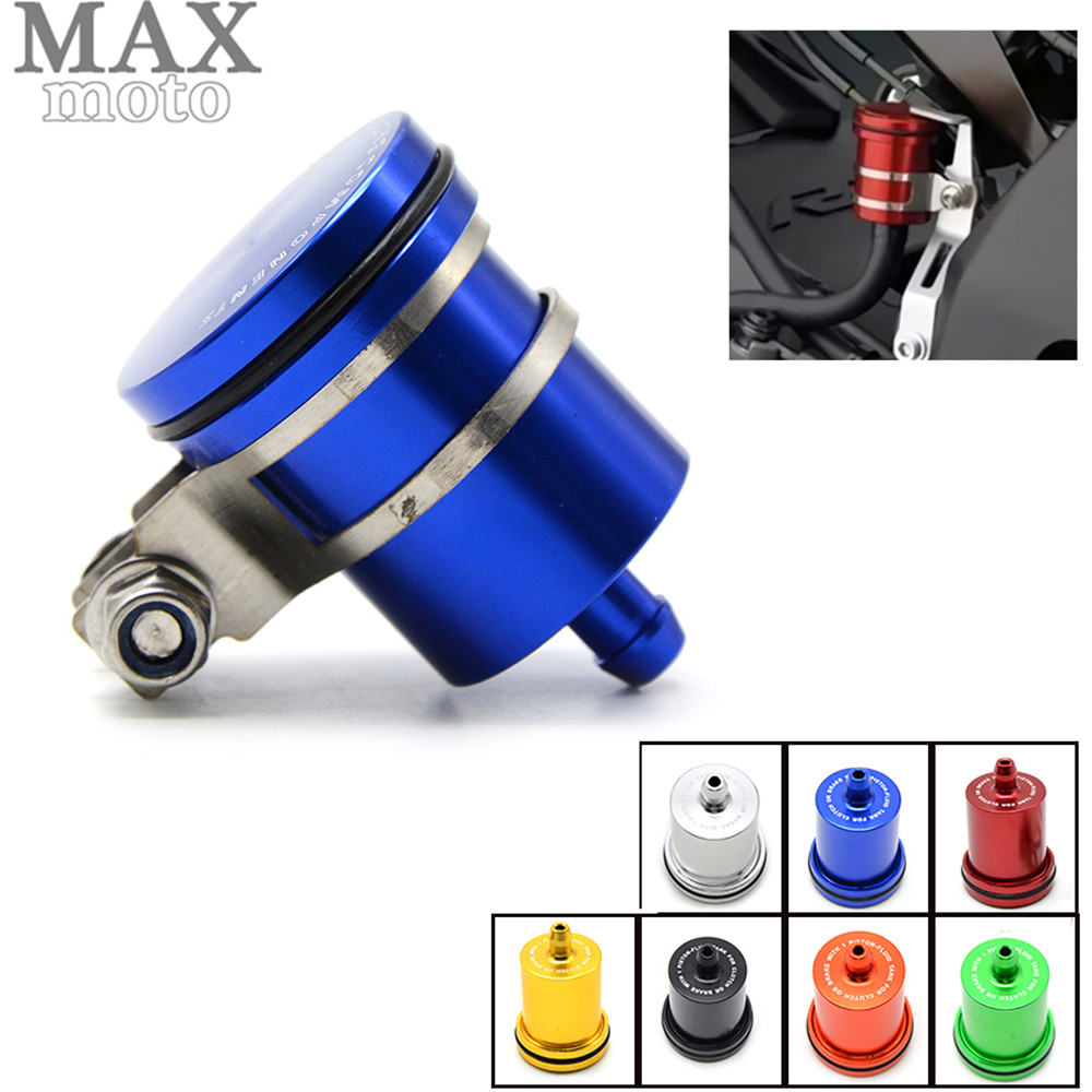 Universal Motorcycle Brake Fluid Reservoir Clutch Tank Oil Fluid Cup For Honda cbr 250rr cb600f cbf600 XJR FJR 1300 FZR 1000 universal motorcycle brake fluid reservoir clutch tank oil fluid cup for mt 09 grips yamaha fz1 kawasaki z1000 honda steed bone