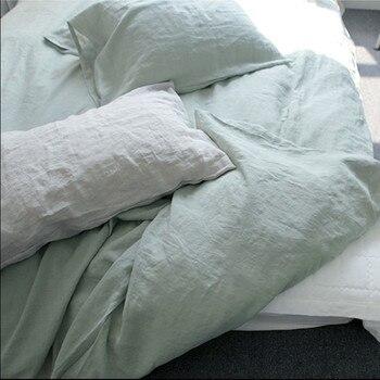 3pcs set of 100% Hemp flat sheet / bedspread + 2 pillowcases / pillow sham queen king or customize size Enzyme wash soft fabric