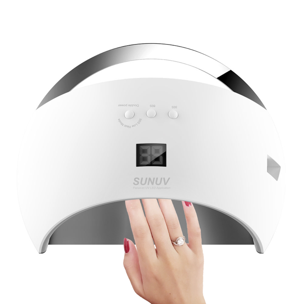 SUN6 48W Smart Lamp Nail LED UV Lamp Dryer With Sensor& LCD Timer For Drying Unique Low Heat Model Double Power Fast Manicure shanghai kuaiqin kq 5 multifunctional shoes dryer w deodorization sterilization drying warmth
