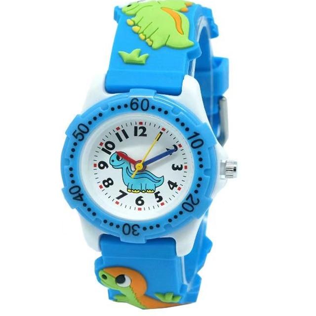 WILLIS Kids Watches Silicone Watchband Children Watch Dinosaur Cartoon Watches F