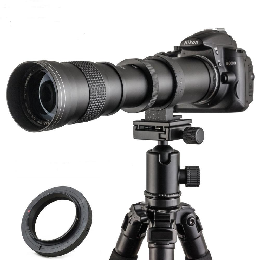 JINTU 420-800mm F/8.3-16 SUPÉRIEURE Mise Au Point Manuelle Téléobjectif pour Nikon D3000 D3200 D5000 D5100 D610 D5500 D5300 D3300 D3400 D7200
