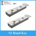 2 шт./лот S3 Handkey Eas Magnaetic дисплей крюк деташер s3 ключ для безопасности Стоп замок паук обертывание вешалка сенсор деташер