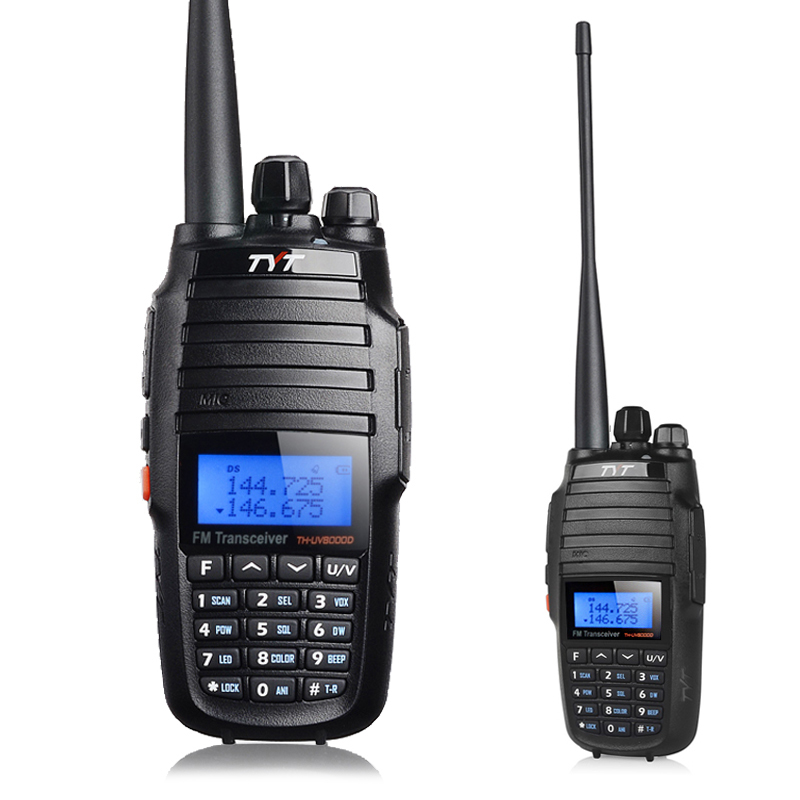 TYT th-uv8000d Talkie walkie VHF-UHF Double bande 10 w Émetteur-Récepteur portable ham radio 10 km th-uv8000d walky talky