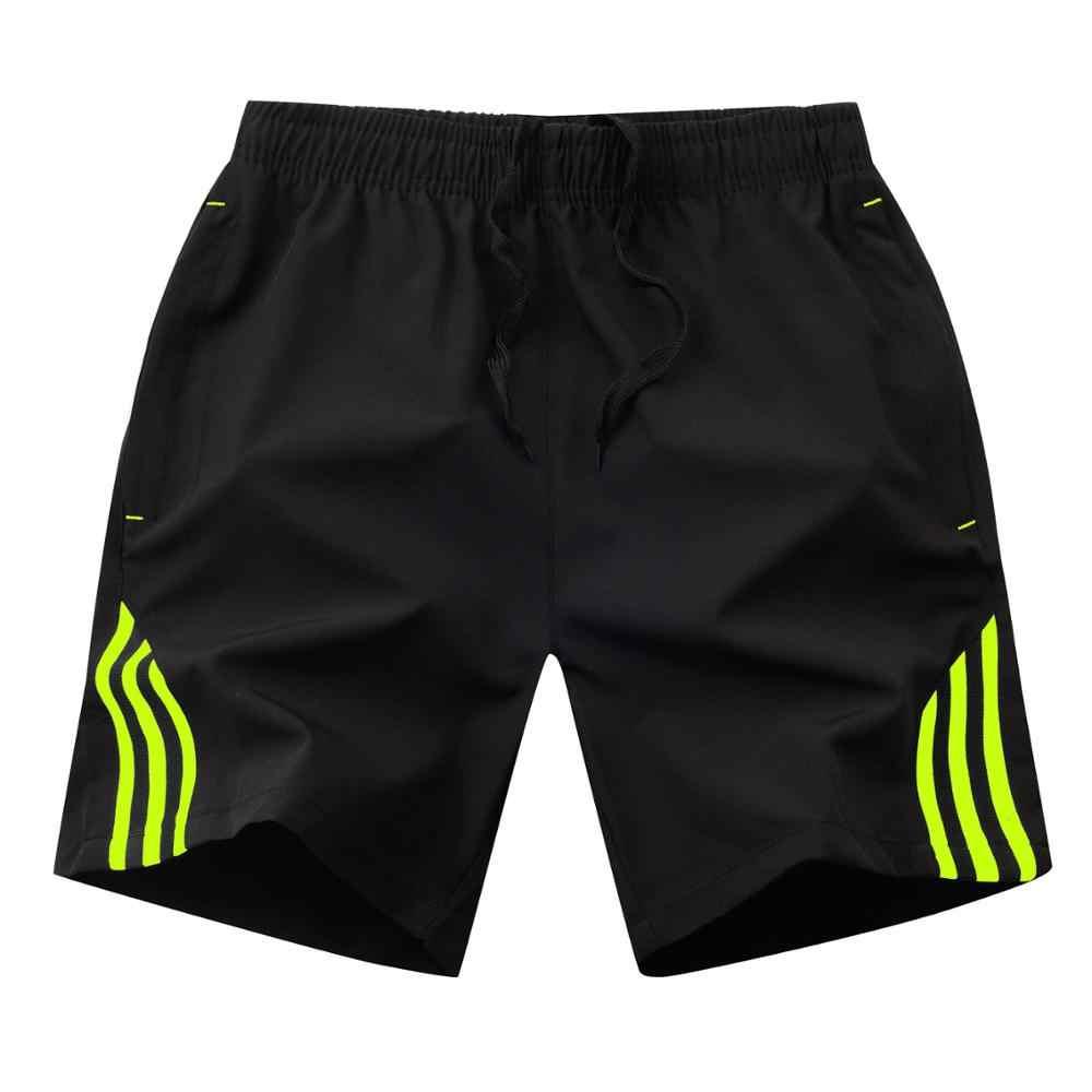 Модные летние мужские повседневные шорты в полоску сбоку мужские бегуны дышащии эластичные для талии мужские шорты 4XL 5XL 8XL