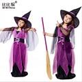 Halloween Meninas Cosplay Vestido para festa de aniversário do miúdo das crianças dança traje de morcego chapéu crianças roupas terno do bebê meninas vestido