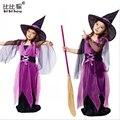 Vestido de Las Muchachas del cabrito de los niños de Halloween Cosplay bat traje de baile fiesta de cumpleaños sombrero de los niños traje ropa de bebé vestido de las muchachas