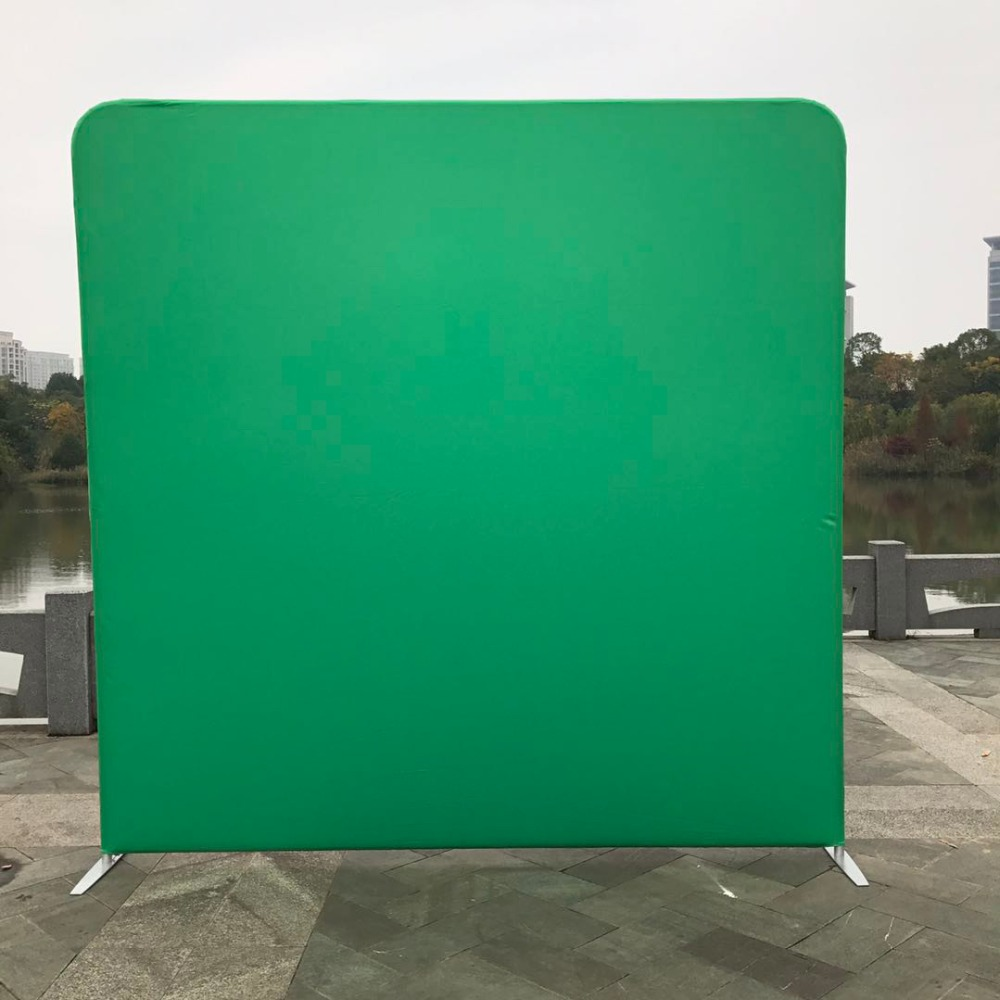 8ft 243cm 220cm green white single print pillowcase background with stand for photography