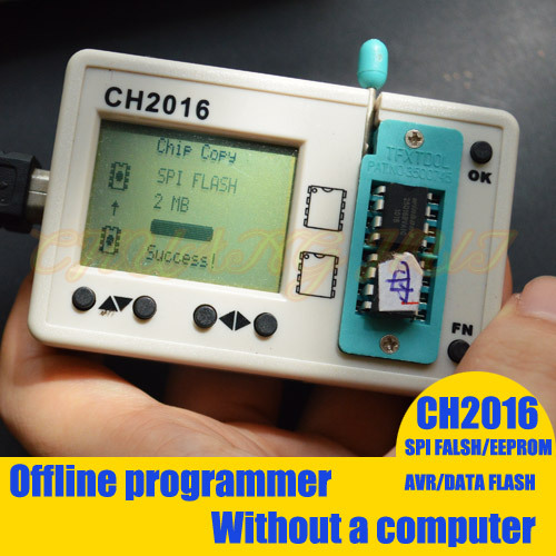 CH2016 Mini Multi offline programmer eeprom spi flash avr data flash programmer copy Program