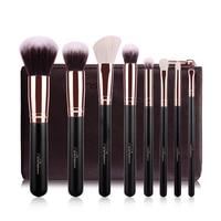MSQ 8 Pcs 1 Set Rose Gold Tube Makeup Brush Set Foundation Blush Eye Shadow Soft