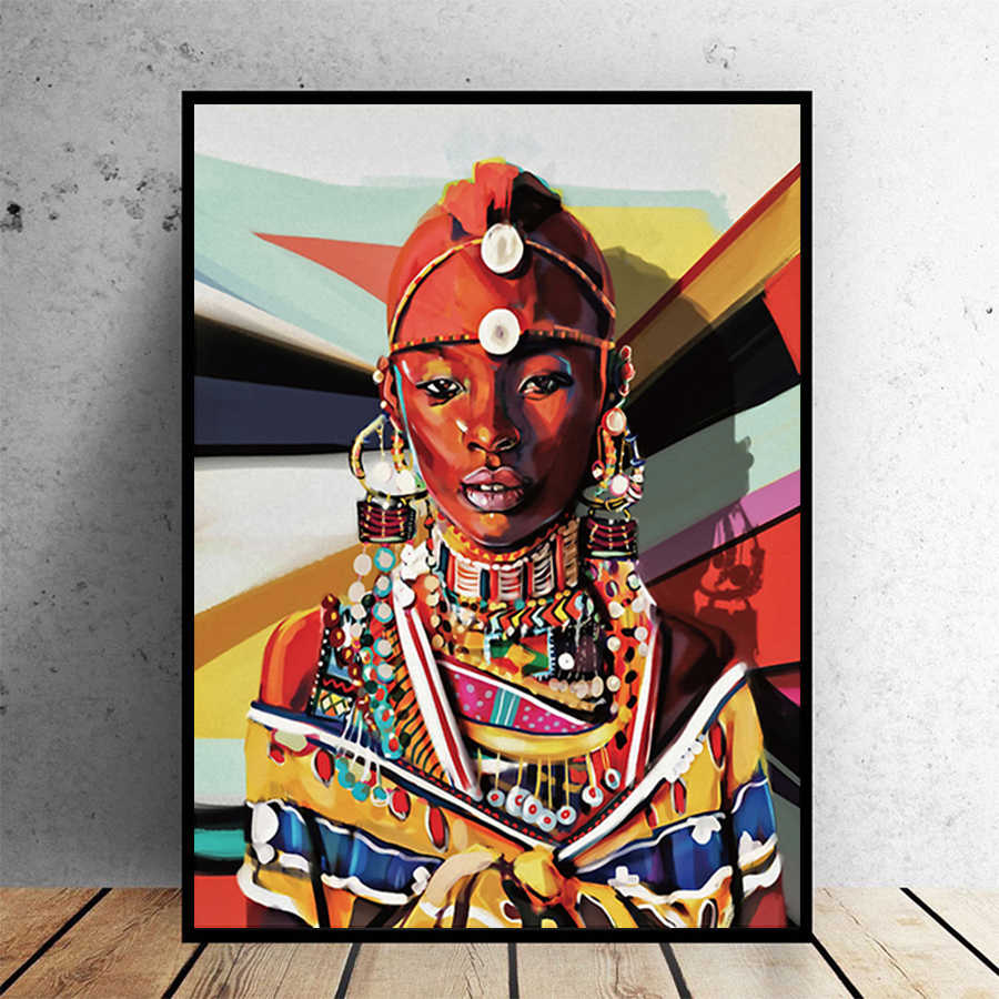 African Women Canvas Wall Art Decor Canvas Painting Ancient Posters And Prints Wall Pictures For Living Room Home Art Decoration