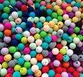 2016 Nueva llegada Del Bebé 9 MM suelta perlas de silicona Libre de BPA grado de seguridad alimentaria redondo bebé masticar perlas 50 unids/pack SL001