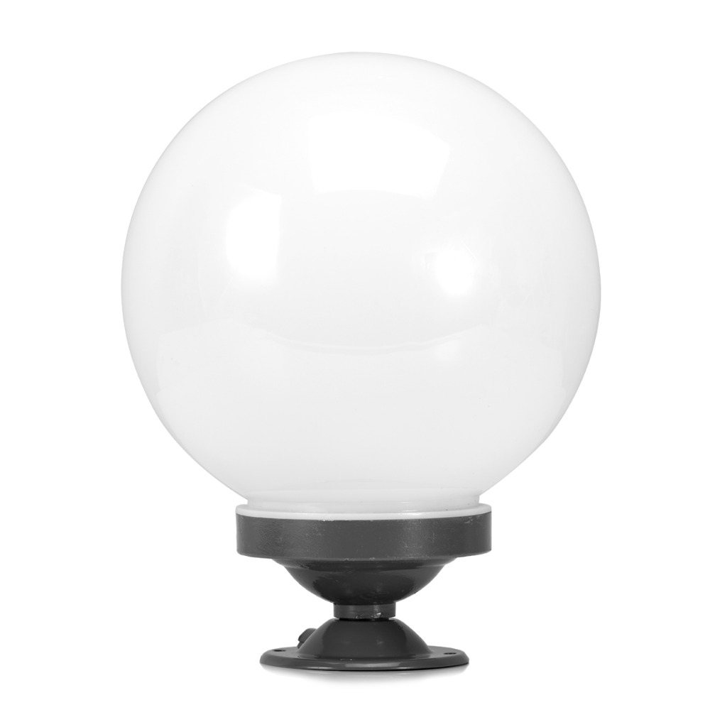 Graceful Large White Round Pillar Lamps Outdoor Stigma Light Ball Wall Lamp Shade Plastic Lights