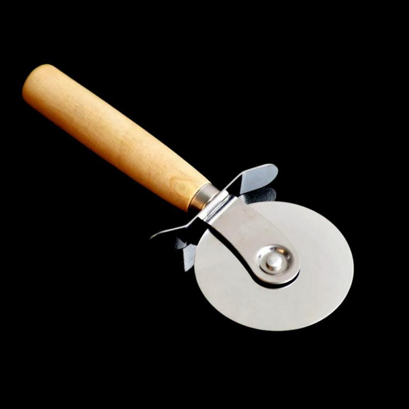 Stainless Steel Cutter Pizza Knife Cake Tools Pizza Wheels Scissors Ideal for Pizza, Pies, Waffles and Dough Cookies