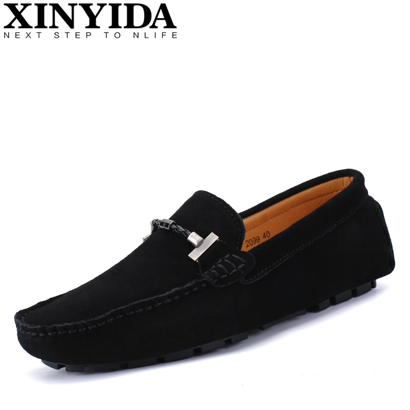 Hot Sale 100% Handmade Genuine Leather Men Loafers Fashion Slip-on Driving Shoes Men Moccasin Boat Shoes Comfy Casual Men Flats black real leather 2017 mules summer brown european loafers men genuine shoes moccasins half male casual slip ons hot sale