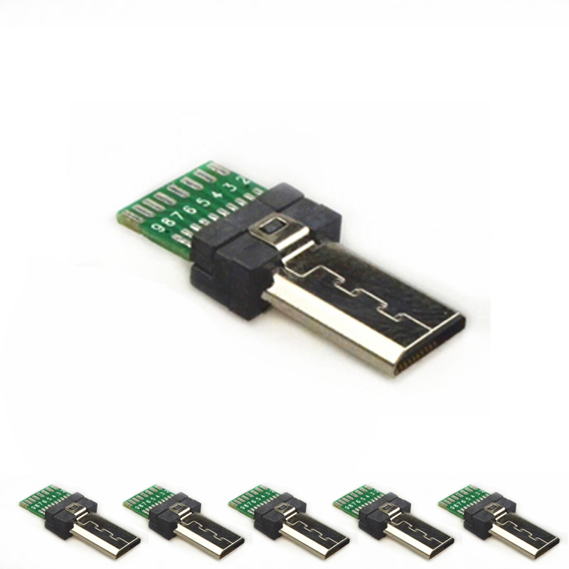 <font><b>15</b></font> <font><b>Pin</b></font> Mini <font><b>USB</b></font> PCB Connector Micro 15pin <font><b>usb</b></font> Connector Data <font><b>USB</b></font> 1-100 Pack Male Jack for Sony Digital Camera MP3 Xperia M C1904 image