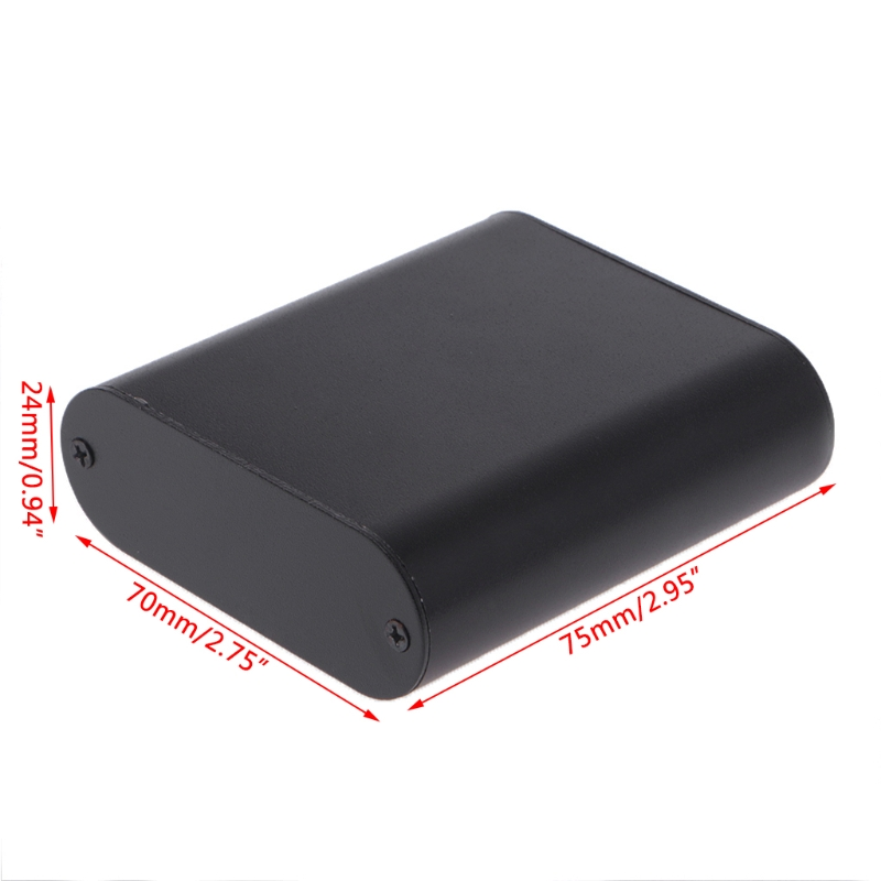 DIY Black Aluminum Case Electronic Project PCB Instrument Box 75x70x24mm