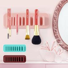 Toothbrush Towel Cosmetic Makeup Brush Holder Organizer Air Drying Storage Rack
