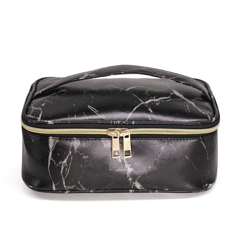1 Pc Hohe Qualität Marmor Wasserdichte Tragbare Kosmetik Tasche Frauen Reise Make Up Make-up Veranstalter Tasche Große Kapazität Reise Kits