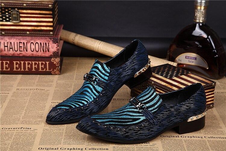 Couro Clássico Para Casamento Preto Azul Em Deslizamento Metálico Oxford Genuíno Listrado Flats Finalistas Vestido 1 Festa Homens Do De 2 Baile Dos Sapatos Mocassins Aqn5xwTpO