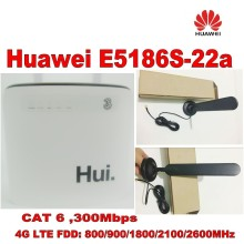 Unlocked cat6 300Mbps Huawei e5186 E5186s-22a 4g LTE wireless router wifi dongle Mobile hotspot