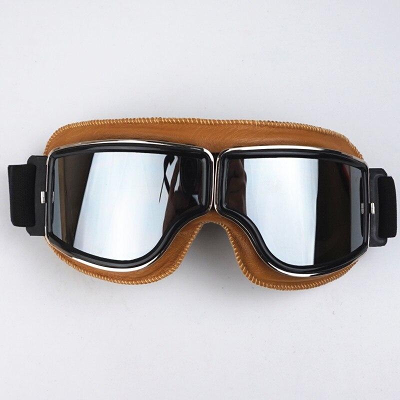 VCOROS harley motorcycle helmet goggles retro scooter jet vintage moto helmets eyewear protective gear Yellow Genuine 4 Colors