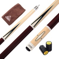 CUESOUL Center Split Pool Cue Billiard Cue America 9 Ball Cue FREE SHIPPING With Cue Joint Protector