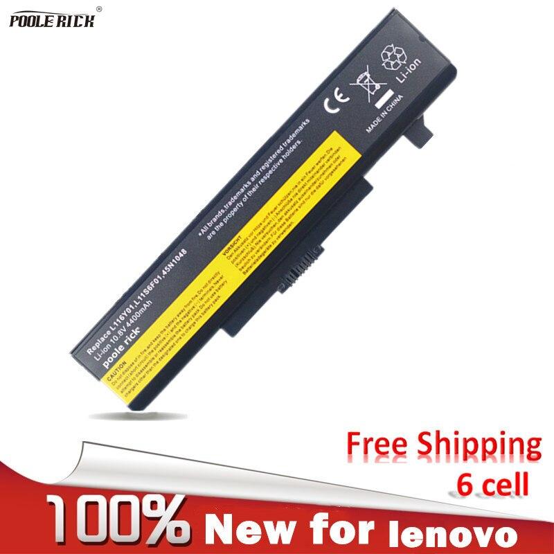 New 6 Cells Laptop Battery For LENOVO G580 G700 G70 Z380 Z380AM Y480 G480 V480 Y580 G490 G580AM L11S6Y01 L11L6Y01 Black