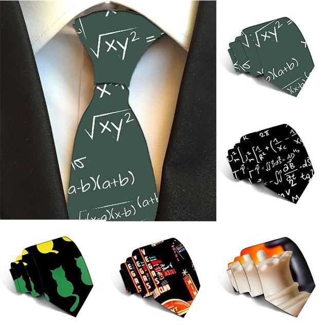 2019 Plaid Ties Men's Fashion Tie 8cm Black Necktie Creative Printed Tie For Men Causal Funny Party Wedding Accessories 8ZJQLD28