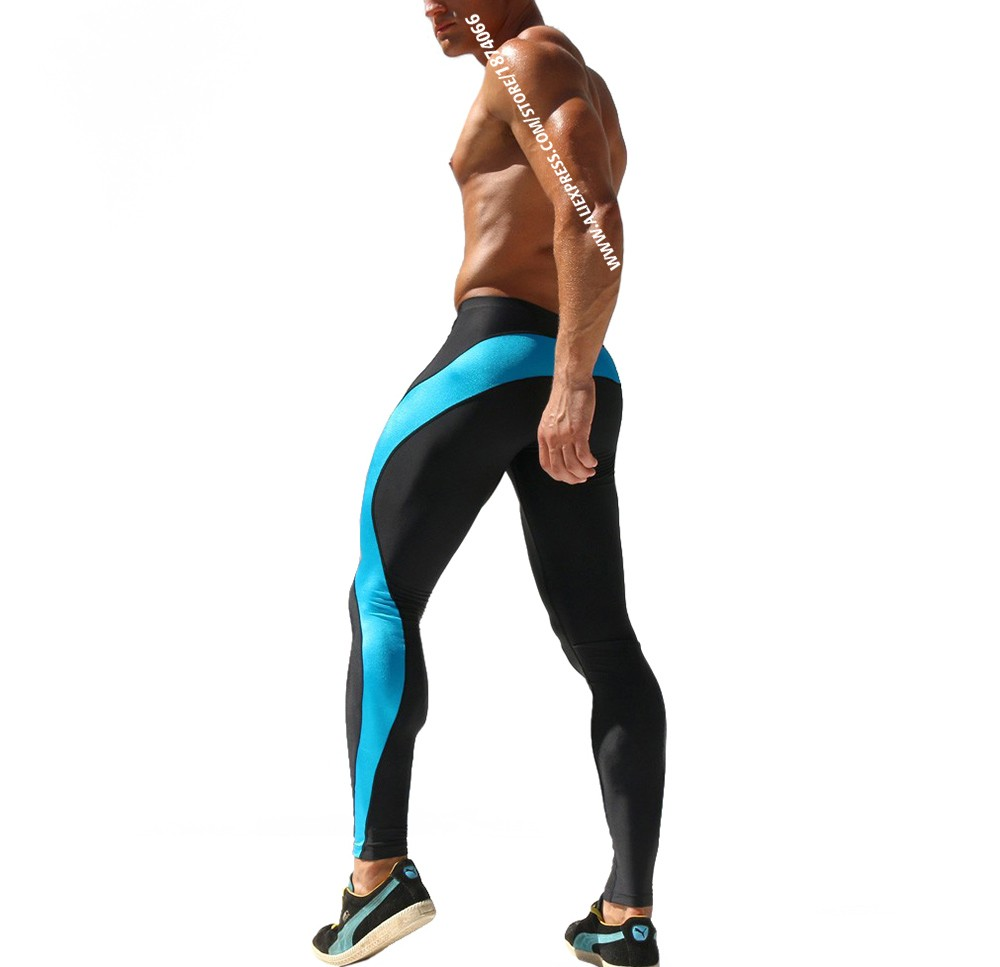 Aimpact Sexy Fashion Skinny Men Sport Pants Athletic Slim Fitted Running Men's Pants Gym Strip Sexy Tight Causal Sweatpants AQ17 (11)