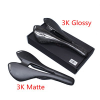 2017 Bicycle Saddle Glossy Matte 3K UD Full Carbon Fiber Road Bicycle Saddle Mountain Mtb Cycling