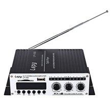 Lepy LP – V9S Multifunctional Portable Mini Car Hi-Fi Stereo Output Power Amplifier Support FM Loudspeaker Remote Control