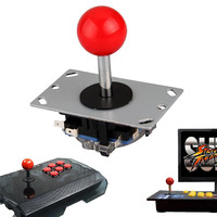 High Sensitivity Arcade Red Ball 4 8 Way DIY Joystick Fighting Stick Parts Replacement Parts For