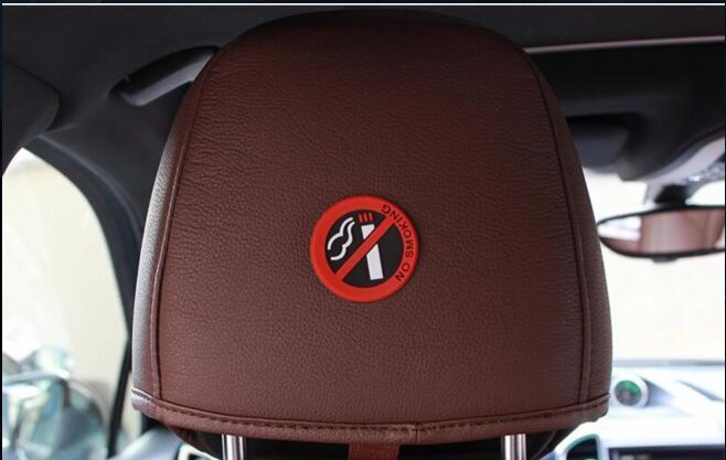 5 Pcs Keine Rauchen Auto Aufkleber Styling Erlaubt Runde Rot Logo Zeichen Für Honda Hr-v Fit Accord Civic Cr-v Stadt Jazz Crider Greiz Produkte HeißEr Verkauf