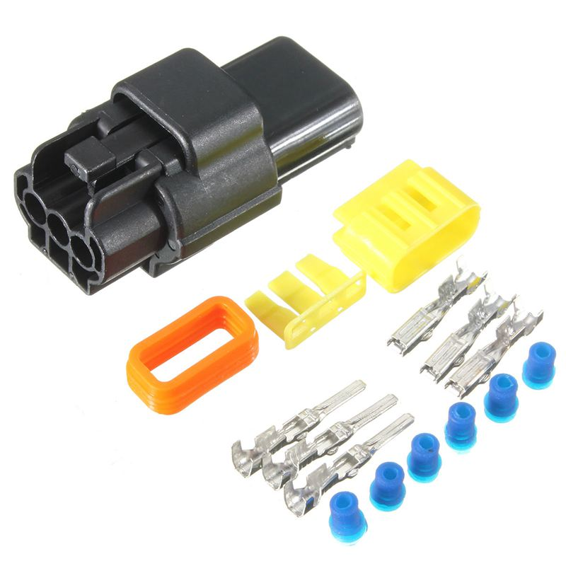 Waterproof 6/4/3/2 Pin 6/4/3/2 Way 1.8mm Sealed Automotive/Marine Electrical Wire Connector Plug Set Car Truck Terminal Kit brand new high quality 4 way pin 6 3mm car electrical terminal block multi connector plug socket kit