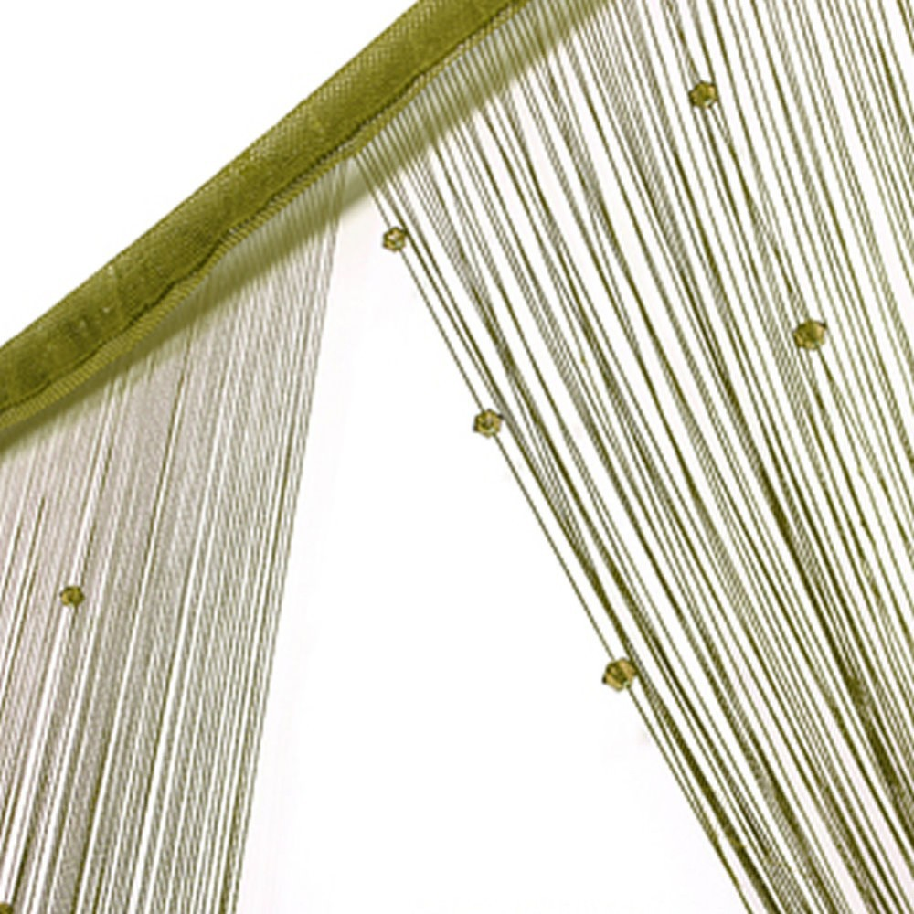 Home & Garden Have An Inquiring Mind String Curtain Beads Panel Spangle Fringe Room Door Window Panel Blind Divider Fashionable And Attractive Packages Window Treatments