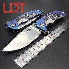 LDT CH 3504 Складной Нож S35VN Лезвие Шариковый Подшипник Шайба TC4 Titanium Ручка EDC инструменты Отдых На Природе Охота Открытый Нож Выживания