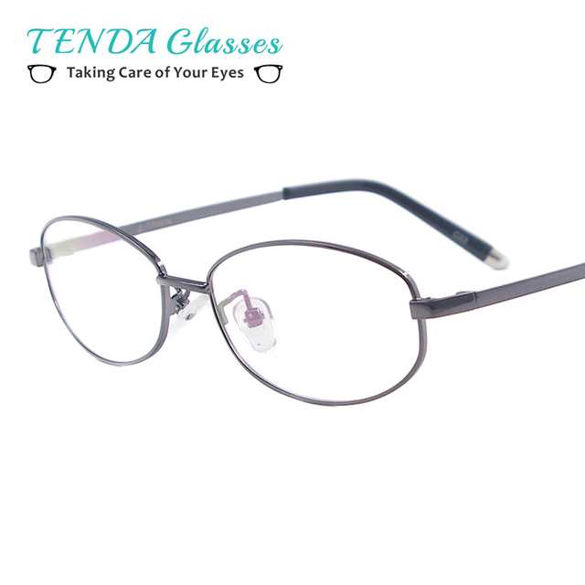 bacde83e83 Women Full Rim Flexible Memory Titanium Glasses Frame Men Oval Eyewear  Spectacles For Prescription Lenses
