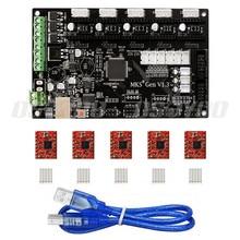 MKS Gen V1.4 3D Printer Control Board Motherboard of MEGA2560 + RAMPS 1.4 With USB Cable+5PCS A4988 Stepper Motor