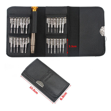 2019 New Leather Case 25 In 1 Torx Screwdriver Set Mobile Phone Repair Tool Kit Multitool Hand Tools For Iphone Watch Tablet PC mini precision screwdriver set 25 in 1 electronic torx screwdriver opening repair tools kit for iphone camera watch tablet pc