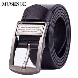 Ceinture en cuir MUSENGE hommes Jeans Cinturon Hombre Cinto Masculino Ceinture Homme Luxe Marque Cowboy Designer ceintures hommes de haute qualité