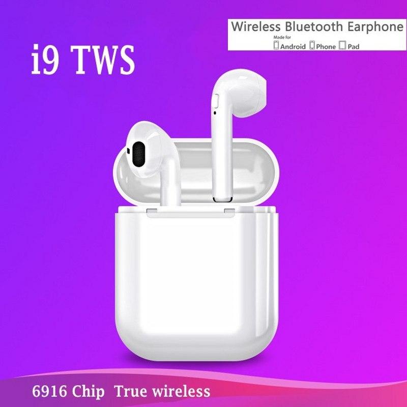 I9 iFANS TWS Auricolare Senza Fili di ricarica Magnetica Mini Auricolare Bluetooth Stereo Per Cuffie Auricolari Auricolari Con Il Mic per il iphone