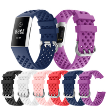 For Fitbit Charge 3 Strap Watch Replacement Bracelet for Silicone Sport Outdoor Band