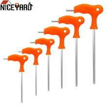 NICEYARD 2,5 мм 3 мм 4 мм 5 мм 6 мм 8 мм из высокоуглеродистой стали шестигранный ключ с Т-образной ручкой гаечный ключ внутренний шестигранный ключ ручной инструмент