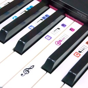 Piano Stickers for 49 / 61 / 7