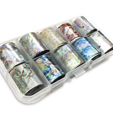 1 Box Shell Nail Foil Holiday Seaside Design Nail Transfer Foil Sticker Manicure Nail Art Decorations(China)