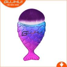 GUJHUI 1pcs Mermaid Shape Makeup Brush Powder Blush Foundation Cosmetic Fish Brush Makeup Tools Mermaid Brush Makeup ob