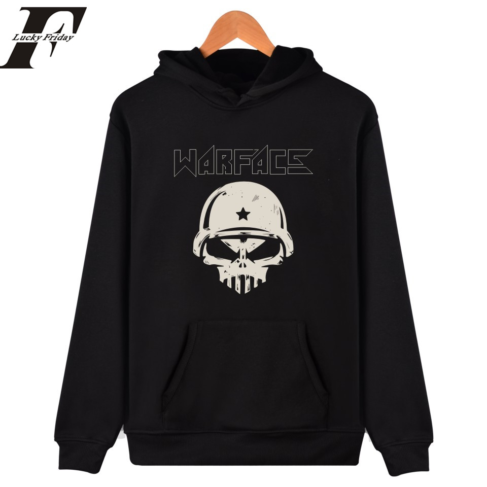 LUCKYFRIDAY hip hop Men/women Warface hoodies fmoletom masculino 2017 warface game Hoodies and sweatshirts pullover streetwear