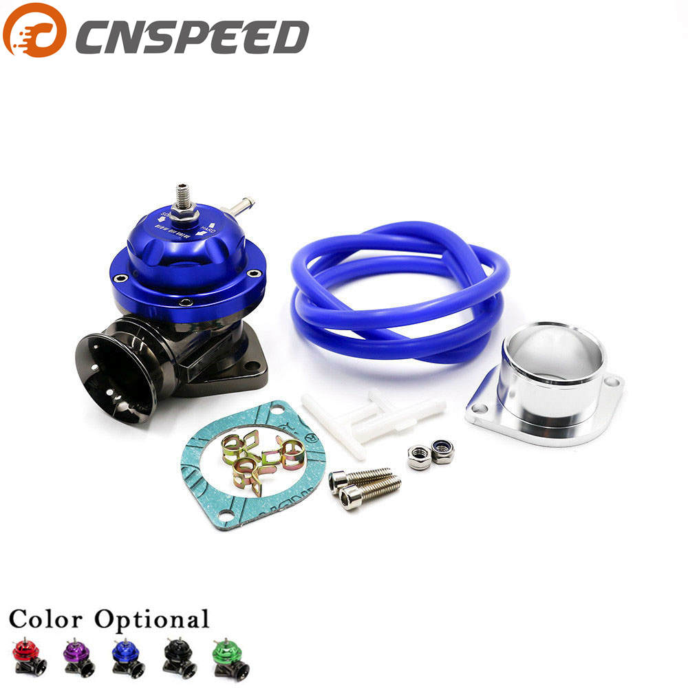 CNSPEED Universal Type-RS Turbo Blow off Valve Adjustable 25psi BOV Blow dump/Blow off adaptor YC100370 50mm tial blow off valve universal turbo bov new design spring flange with flange hq blow dump blow off adaptor